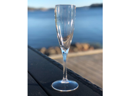 champagneglas glas melamin hallbara