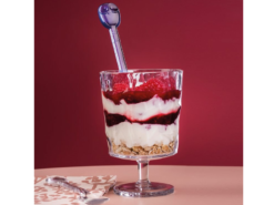 glas dessert dessertglas diamant taligt hallbar