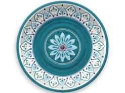 Tallrik-Marockansk-Blå-Super-hardplast-27-cm