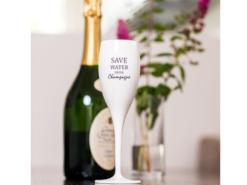 Champagneglas-Save-water-drink-champagne-Superglas-Plastglas-Vit-CHEERS-NO-1-100-ml